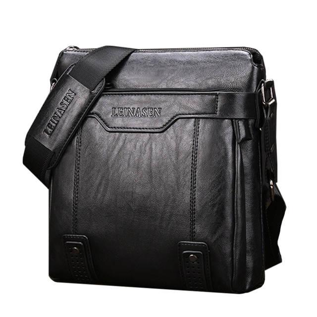 c34735ef32e2 placeholder LEINASEN Brand Fashion PU Leather Men s Messenger Bags  Portfolio Office Men Bag