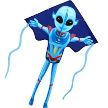 New Outdoor Fun Sports Kites For Kids And Adults Large Easy Flyer Mysterious Alien Kites 55Inch