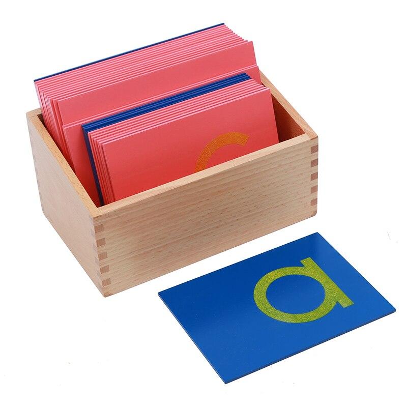 Bébé Jouet Montessori Langue Minuscules Papier de Verre Lettres Imprimer Traçage Conseil en Début de Préscolaire Brinquedos Juguetes - 3
