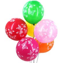 Здесь можно купить   30/50/100pcs Latex balloons Butterfly printed Balloon Wedding Birthday Party Decoration 12inch  Helium Air Ball Festive & Party Supplies