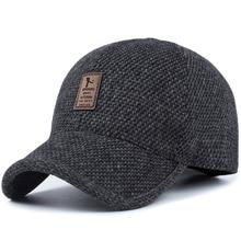 TUNICA Woolen Knitted Design Winter Baseball Cap Men Thicken Warm Hats with Earflaps