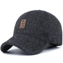 Gorra de béisbol de invierno con diseño de punto de lana TUNICA para hombre  gorros cálidos 57cfb964f98