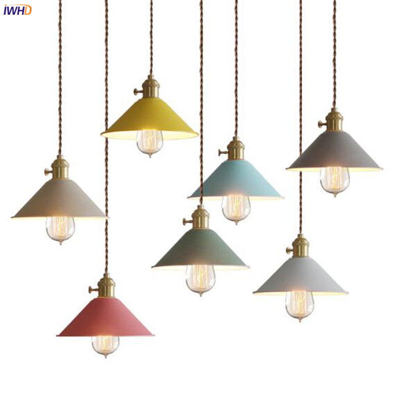 IWHD Nordic Edison LED Pendant Lamp Kitchen Dinning Room Bar Cafe Modern Hanging Light Hanglamp Luminaire Suspendu Suspension iwhd glass ball modern pendant lamp fashion iron led hanging light fixtures bedroom living room cafe suspension luminaire lustre