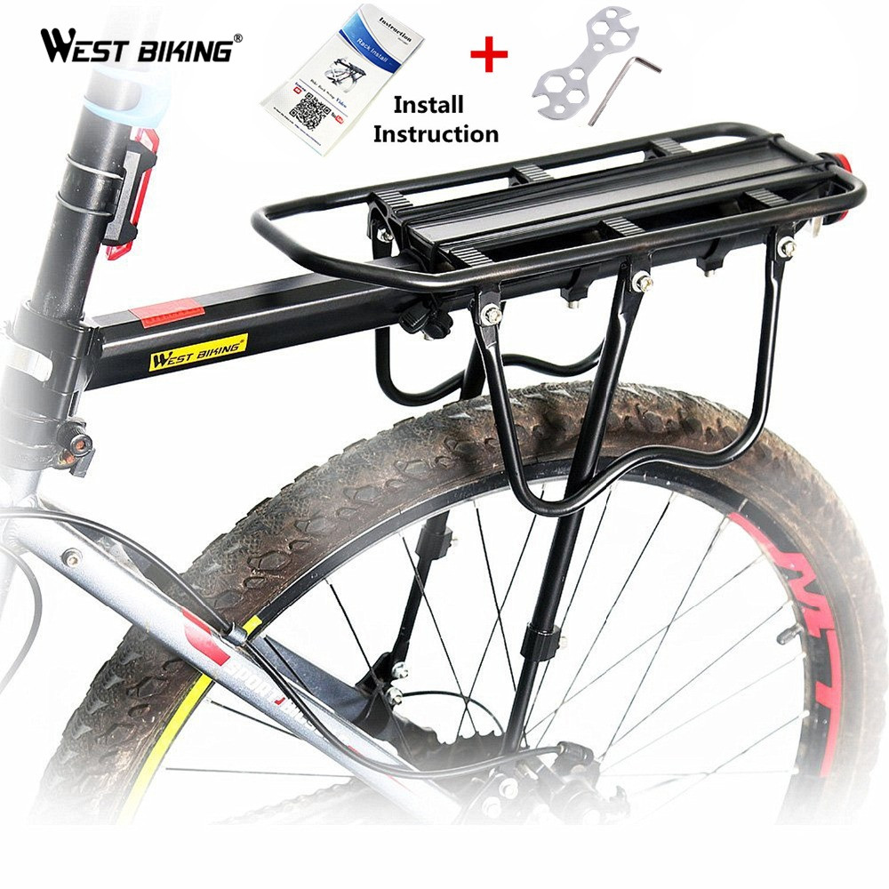 WEST BIKING Bicycle Seats Rack Mountain Bikes MTB Accessories Bicycle Rear Seat Rack Luggage Carrier Saddle