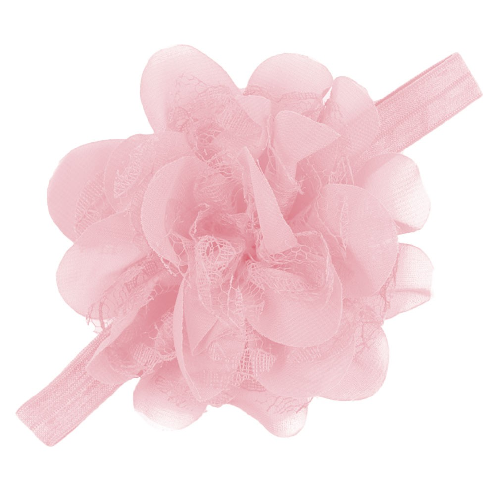 2017 Fashion Candy Color Girls Elastic Big Chiffon Flower Hair Band Headband Hairband Kids Hair Accessories Headwear Hairband bebe girls flower headband four felt rose flowers head band elastic hairbands rainbow headwear hair accessories