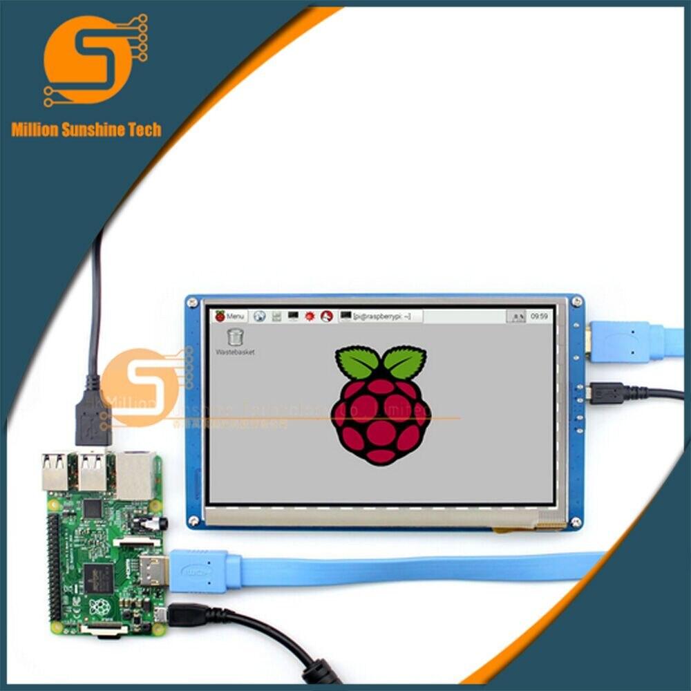 Écran tactile 7 pouces Raspberry pi 2/3 LCD écran tactile 7 pouces HDMI LCD (B), prend en charge divers systèmes