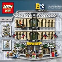 2016 New LEPIN 15005 2182Pcs Creator Grand Emporium Model Building Kits figures Blocks Bricks Toy