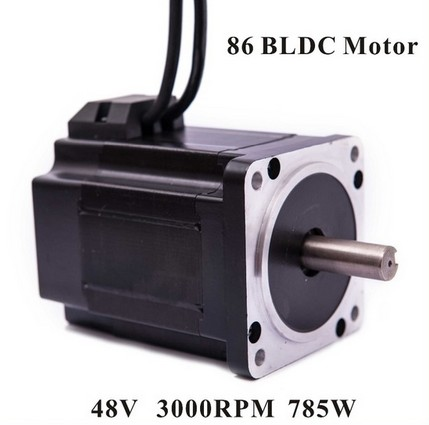 2pcs/lot Brushless DC Motor 48V DC 785W 3000rpm Square Flange 86 mm