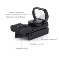 Rail Holographic Riflescope Hunting Airsoft Optics Scope Red Dot Sight Reflex 4 Reticle Tactical Gun Accessories