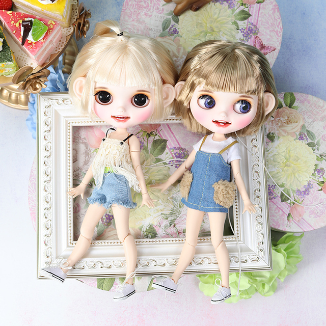 Factory Neo Blythe Dolls Blonde Golden Hair Jointed 30cm