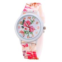 MALLOOM women watches women top famous brand luxury casual Silicone Flower Printed Jelly Sports Quartz Watch Zegarki damskie #YH