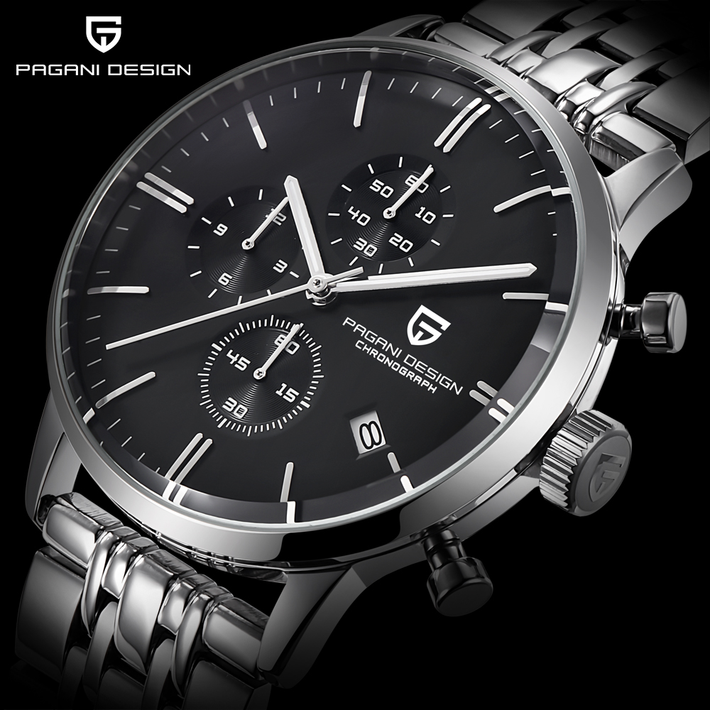 Fashion Chronograph Sports Watch  Quartz Watch Luxury Brand PAGANI DESIGN
