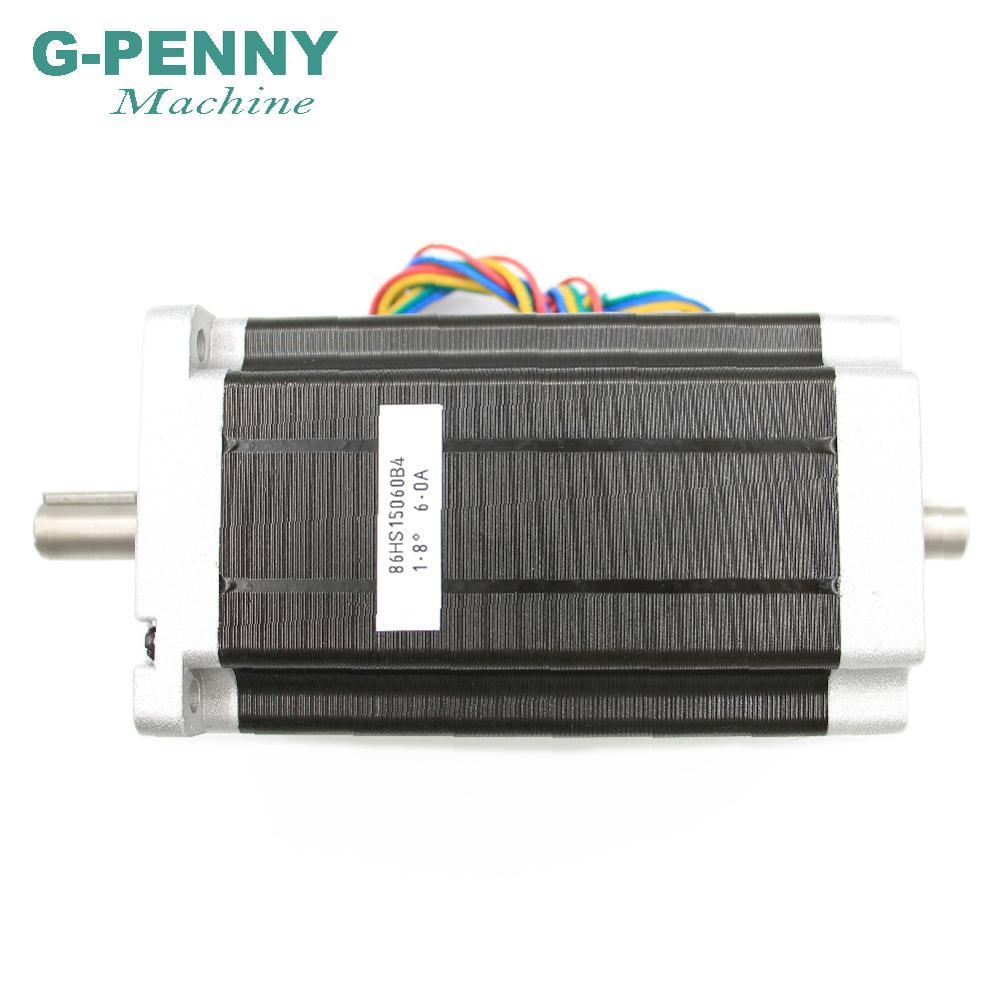 NEMA 34 Double arbre CNC moteur pas à pas 86X150mm 12 N. m 6A nema34 moteur pas à pas 1700Oz-in pour CNC machine de gravure imprimante 3D - 6