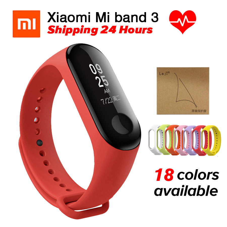 Miband 3 Xiaomi Mi Band 3 Bracelet Fitness Tracker Heart Rate Monitor 0.78'' OLED Display Touchpad Bluetooth 4.2 For Android IOS in stock original xiaomi mi band 3 miband 3 smartband oled display touchpad heart rate monitor wristbands bracelet xiaomi mi 8
