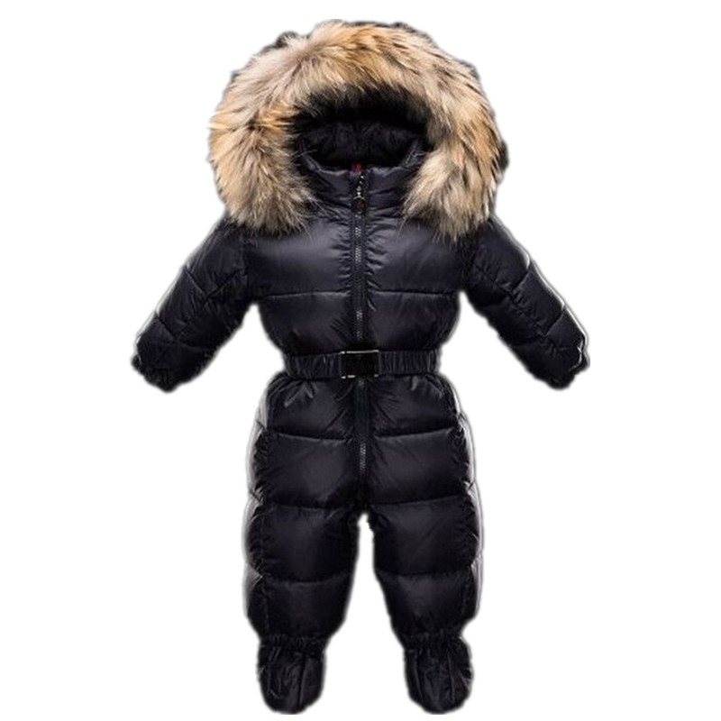 2017 0 36 Month Newborn Baby Winter Jumpsuit Unisex Baby Infant Romper Shoes Duck Down Waterproof