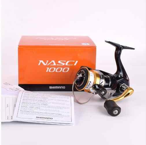 100% Shimano d'origine NASCI 1000 2000 2500 C3000 4000 C5000XG démultiplication 5.0: 1/6. 2:1 Moulinet De Pêche