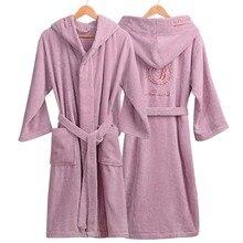 Roupão de inverno Mulheres Grossas Amantes roupão roupão de banho das mulheres espessamento Toalha de banho fleece robe salão peignoir femme badjas polaire