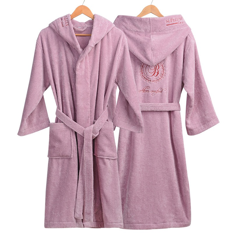 Winter Bathrobe Women Thick Lovers Robe bathrobe women thickening Towel fleece bath robe lounge badjas peignoir femme polaire-in Robes from Underwear & Sleepwears