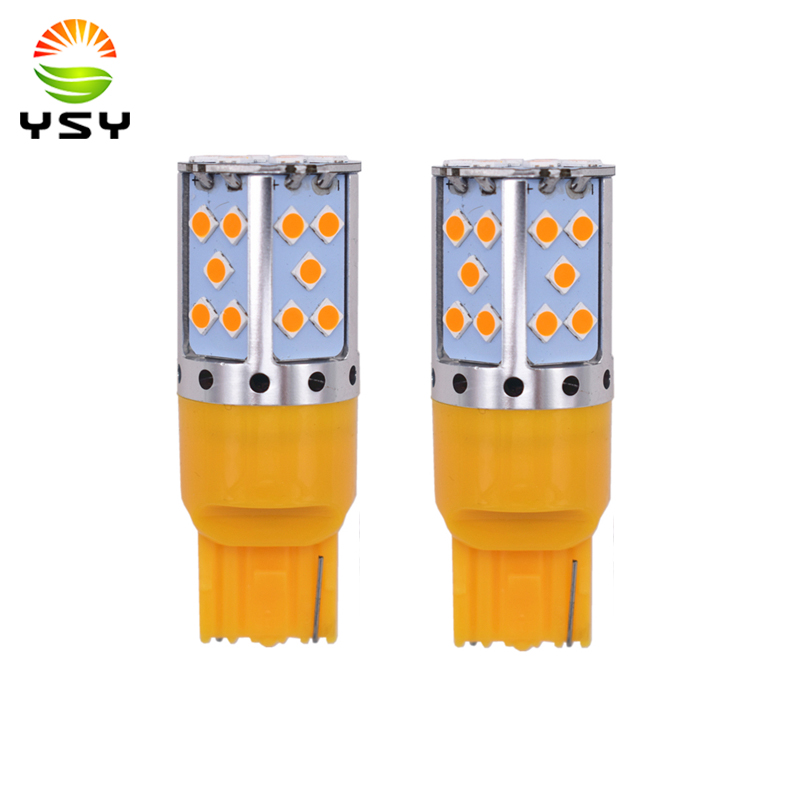 YSY 2 stücke T20 Led Canbus 3030 LED T20 W21W 1156 7507 BAU15S Led-lampen Keine Hyper Flash Bernstein Gelb für Blinker Lichter