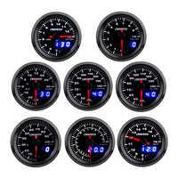 """2 """"52 millimetri Turbo Boost temperatura Dell'acqua Temp Olio della pressa di Olio di Volt Air fuel Rapporto di gas di Scarico temp Tachimetro calibro auto con 7 Colori LED"""