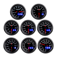 2 52mm Turbo Boost  Water temp Oil Temp Oil press Volt Air fuel Ratio Exhaust gas temp Tachometer Car Gauge with 7 Colors LED 2inch 52mm digital 20 led tachometer boost bar psi vacuum water temp oil temp press voltmeter air fuel ratio egt temp rpm gauge