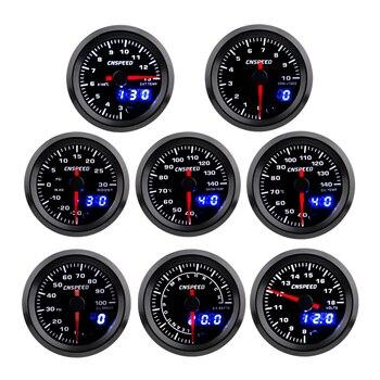 цена на 2 52mm Turbo Boost  Water temp Oil Temp Oil press Volt Air fuel Ratio Exhaust gas temp Tachometer Car Gauge with 7 Colors LED