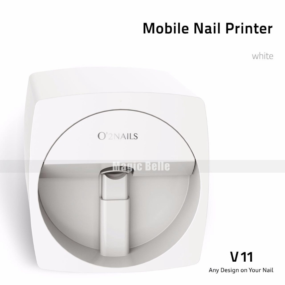 Nail Art Design 2018 Electric Digital Nail Art DIY Nail Print Machine for Home Use diy nail art printer machine with 5 metal design templates retail sales free drop shipping