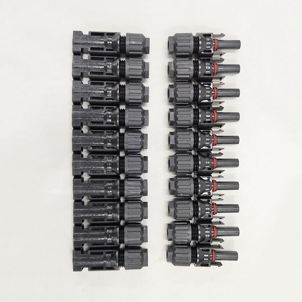 MAYLAR @ 25 年品質保証 100 ペア IP67 MC4 ソーラーパネル (PV) コネクタと CE 、 ROHS  グループ上の ライト & 照明 からの コネクタ の中 1