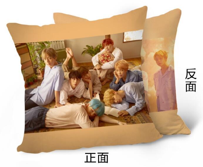 Kpop home BTS Bangtan Boys Love Yourself JIN SUGA RAPMONSTER The Same Sofa soft bolster car waist pad cushions double pillow