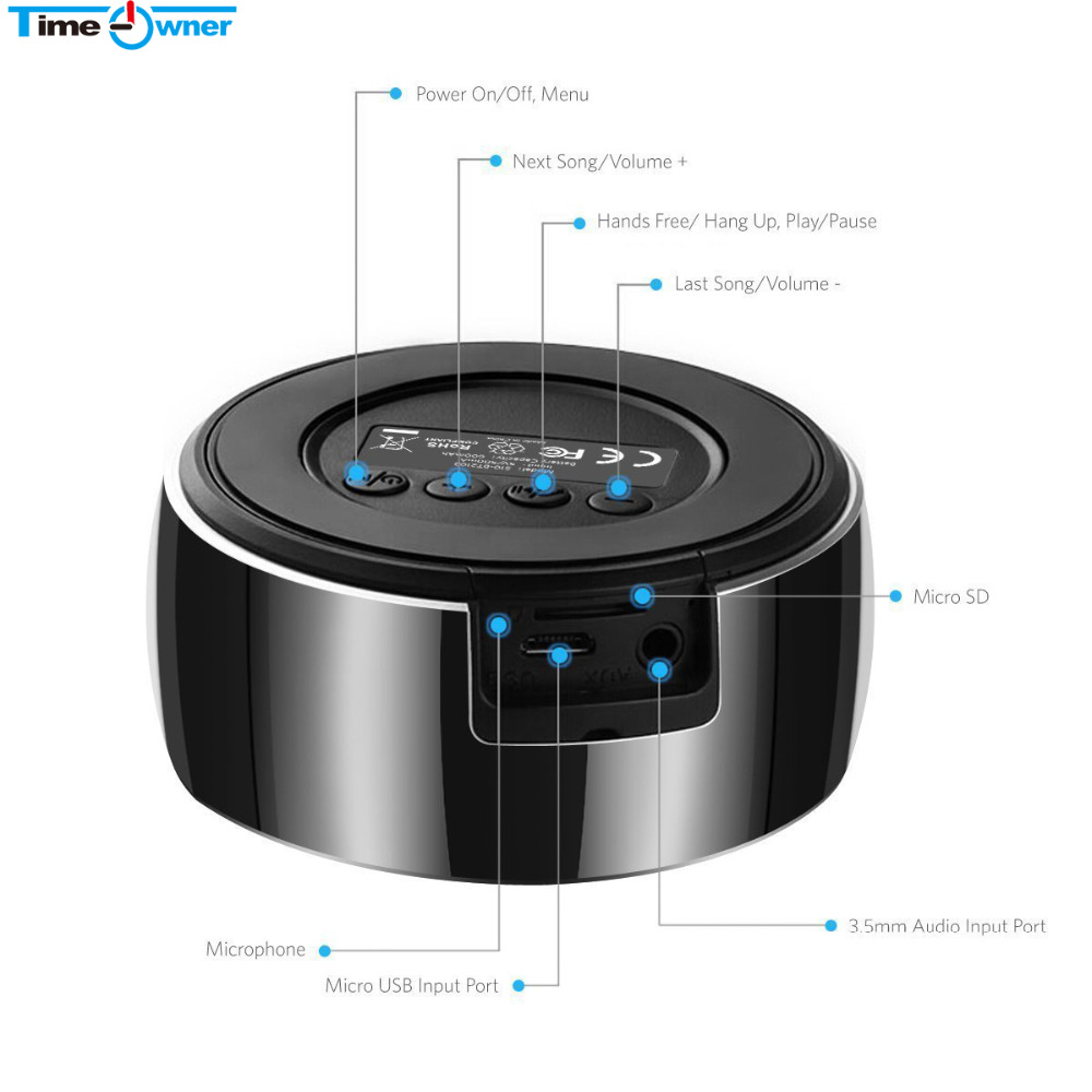 portable wireless bluetooth speaker subwoofer speakers. Black Bedroom Furniture Sets. Home Design Ideas