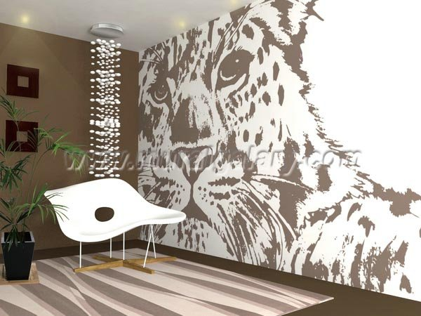 Leopard Wall Decor special-design-leopard-wall-paper-for-home-decor-s1-00096