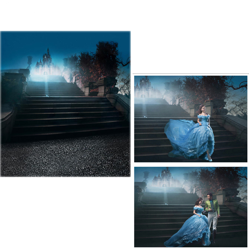 MEHOFOTO Vinyl Photography Backdrops Cinderella Fairy Tale New Fabric Flannel Photo Background For photo studio Castle Night vinyl photography background fairy tale