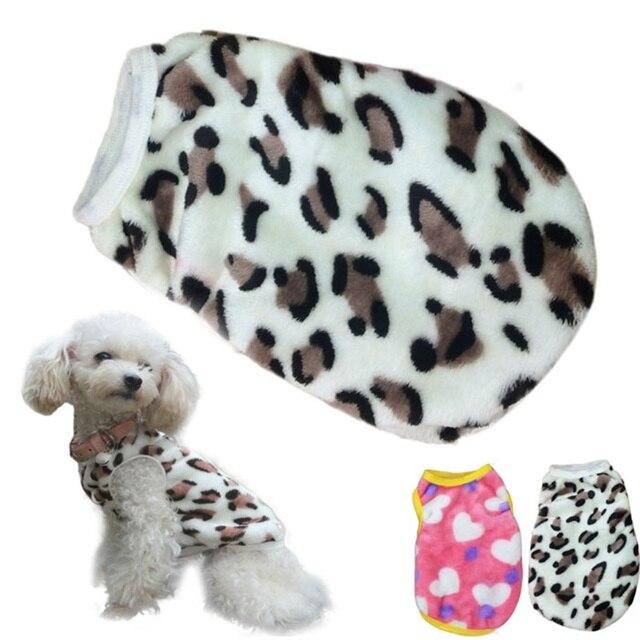 Alta Consiglia 2 Colori Pet Dog Cat Vestiti di Inverno Dei Villi Leopard Pet Gil