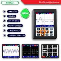 DSO FNIRSI Handheld mini portable digital oscilloscope 30M bandwidth 200MSps sampling rate IPS display handheld oscilloscope
