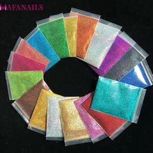50g-bag 0.2MM(1/128) 008inch Holographic Powder Shining Nail Glitter Dust for Art DIY Tattoo Decoration 1Bag