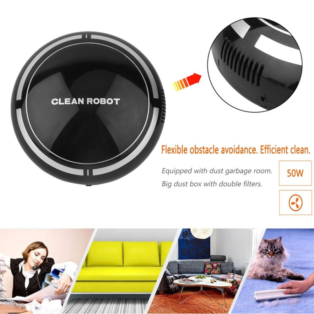 Mini Intelligent Electric Wireless Automatic Multi-directional Round Smart Sweeping Robot Vacuum Cleaner For Home automatic intelligent sweeping robot vacuum cleaner for home cordless portable vacuum a325