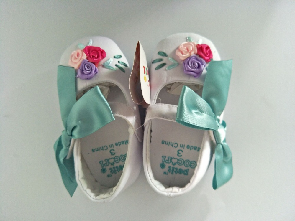 Baby Girl Shoes With Flower Floral Embroidered Soft Shoes Prewalker Walking Toddler Kids Shoes