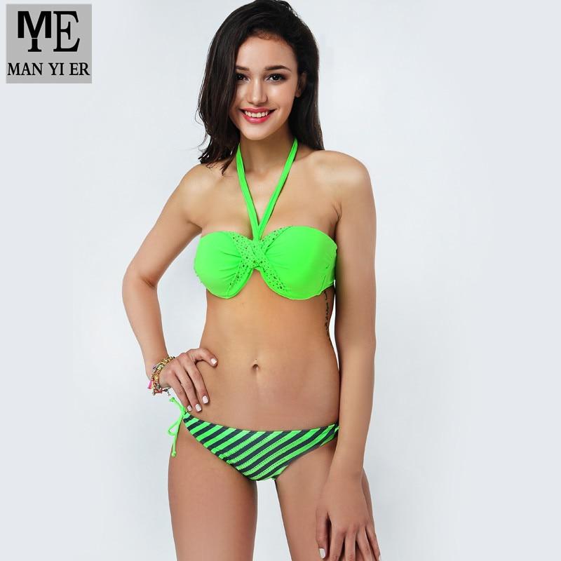 2015 young girls bikini, push up swimwear bandeau biquini ,swimsuit bikini brand name women set , swimsuit