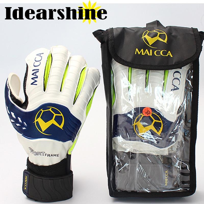 цена на High quality Goalkeeper Gloves Football Supersoft Latex Finger Guard Goalie Soccer Gloves #16022302