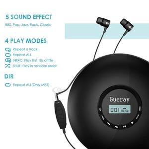 Image 3 - 새로운 스타일 cd 플레이어 휴대용 헤드폰 1400 mah 충전식 배터리 shockproof 개인 cd 음악 디스크 워크맨 플레이어 qosea