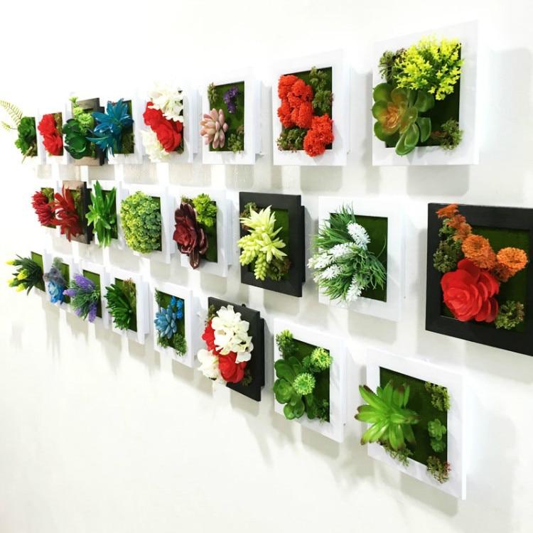 Nueva 3D hecho a mano metope plantas suculentas imitación de madera ...