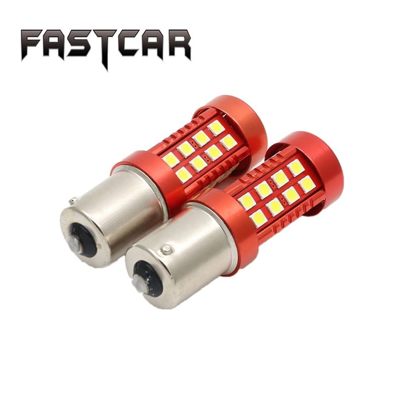 цена на 2X Super Bright 12V 50W S25 1156 Ba15s P21W 1157 BAY15D 3030 LED 36 SMD White Backup Reverse Turn Sigal Light Brake Liighs Bulb