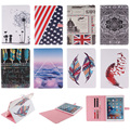 Fashion Feather Lotus Cloud Pattern PU Leather Flip Wallet Case For Apple iPad Pro 9.7 Back Cover Coque For iPad Pro mini 9.7''