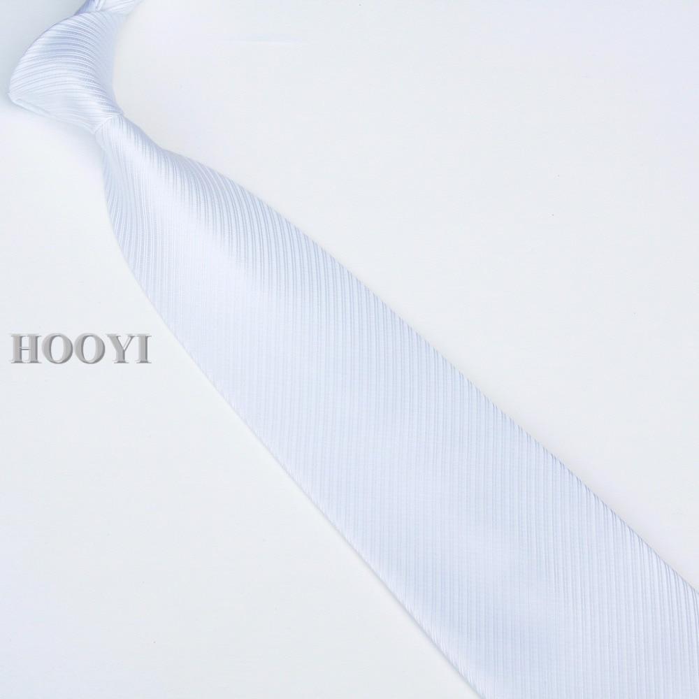 HOOYI 2019 férfi nyakkendő nyakkendő nyakkendő egyszínű üzleti - Ruházati kiegészítők - Fénykép 3