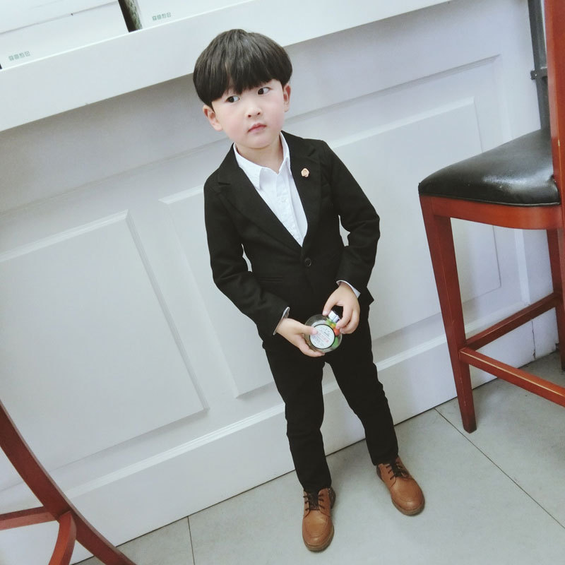 2018 New Boys Formal Suits for Weddings Brand England Style 3-15 year Child Black Formal Party Tuxedos kids Formal Suits