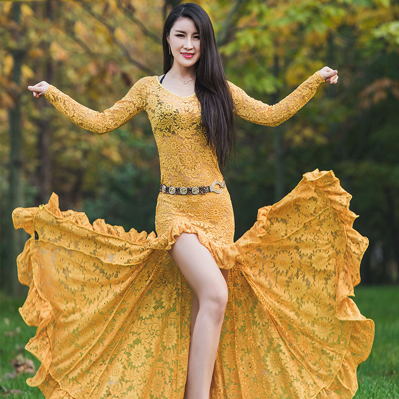 2019 NEW Women Belly Dance Costume Oriental Dance Clothing For Women Belly Dance Clothes Stage Performance Dress M, L