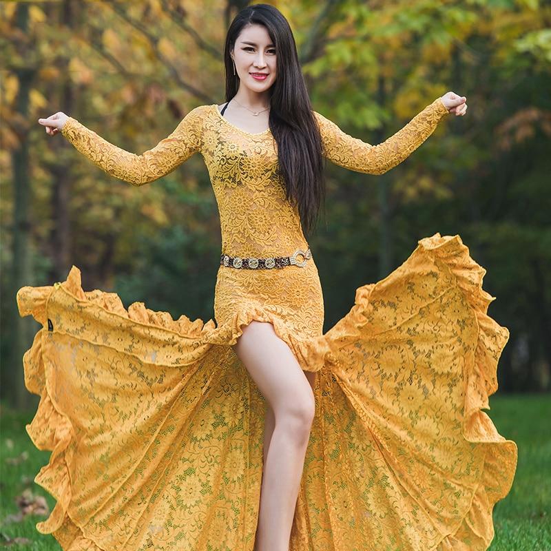 2019 NEW Women Belly Dance Costume Oriental Dance Clothing For Women Belly Dance Clothes Stage Performance Dress M, L