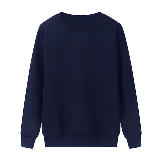Solid Color Sweatshirt Women Casual Hoodie Fashion Winter Autumn Lasdies Pullover Fleece Black White Blue Red Gray Streetwear 5