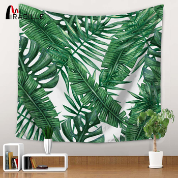 Miracille Polyester Tropical Plant Pattern Wall Cloth Hanging Tapestry Wedding Party Gift Bedspread Beach Towel Yoga Picnic Mat 1