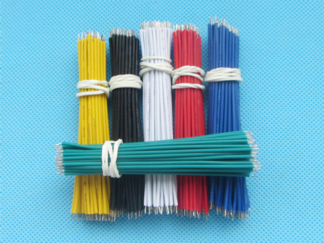 100pcs/lot Line Aberdeen 8CM 24AWG Double Tinned Wire Electronic ...